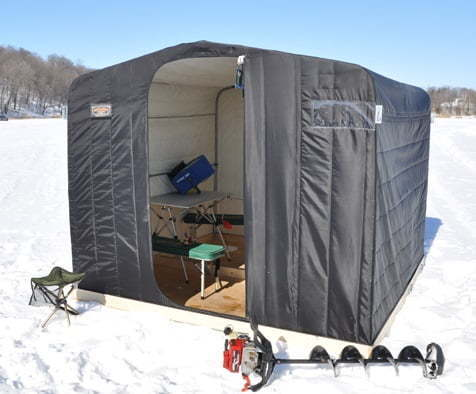 pics for ice fishing shelter